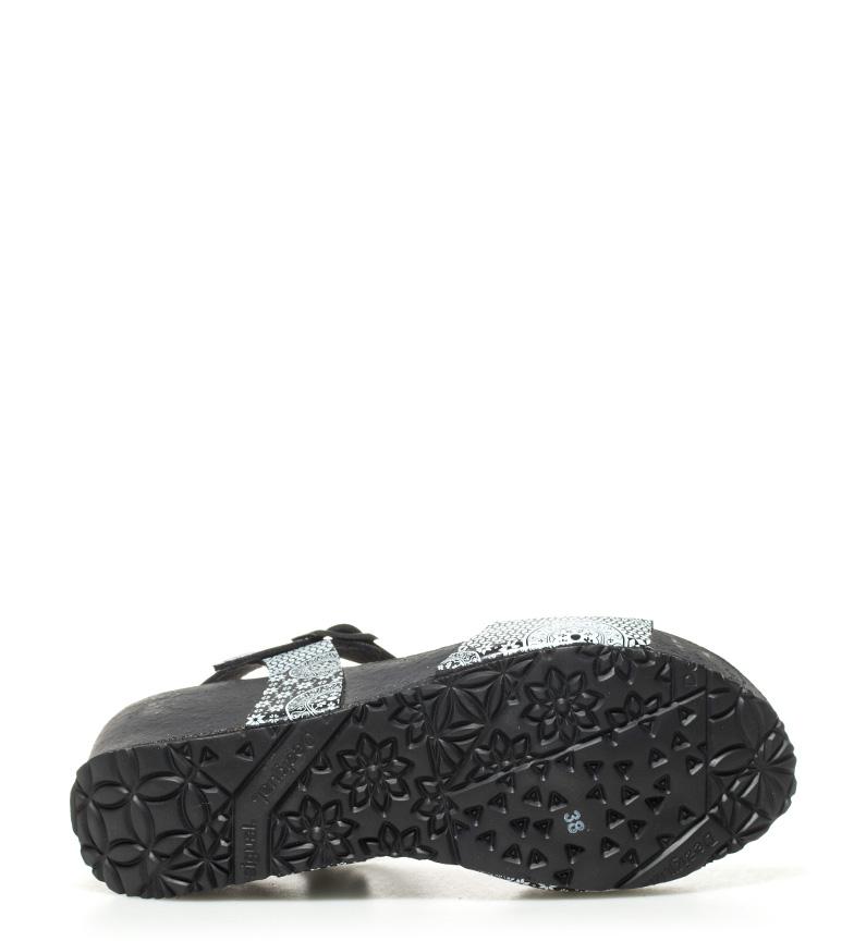 Desigual Sandalias 5cm Bio7 cuña 6 negro Alhambra Altura 1v1rdqUw