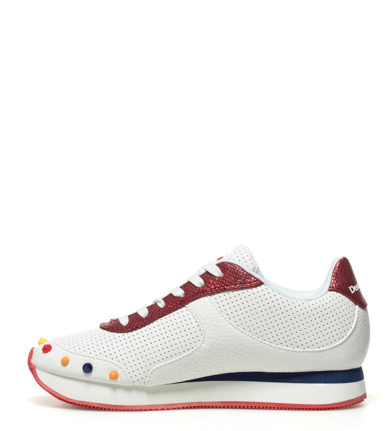 Candy blanco rojo Zapatillas Galaxy Desigual HqEwZnf