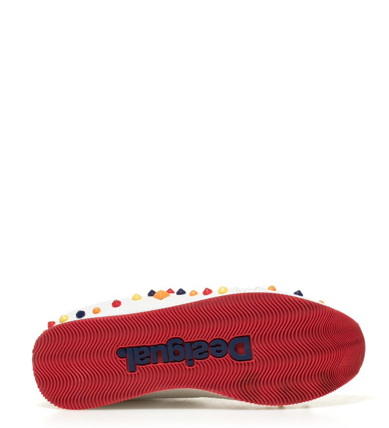 Galaxy Candy Desigual Zapatillas blanco rojo qU5vB5Tn