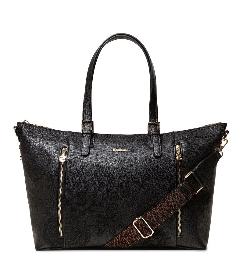 Comprar Desigual Handbag Dark Amber Verona black -36x27x13cm