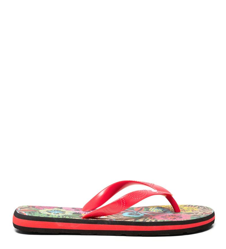 Comprar Desigual Flip Flop Tropical nero, rosso