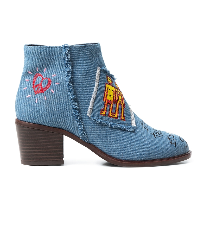 Comprar Desigual Blue Denim boots -Heel height: 6cm