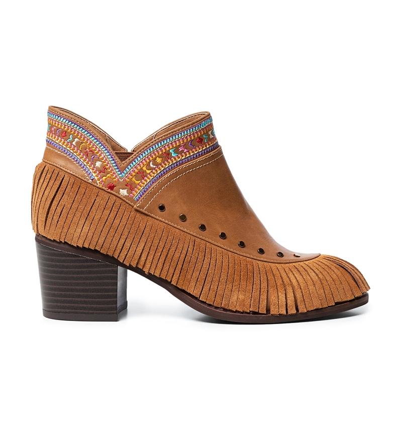 Comprar Desigual Botines Boho Flecos marrón -Altura tacón: 6cm-