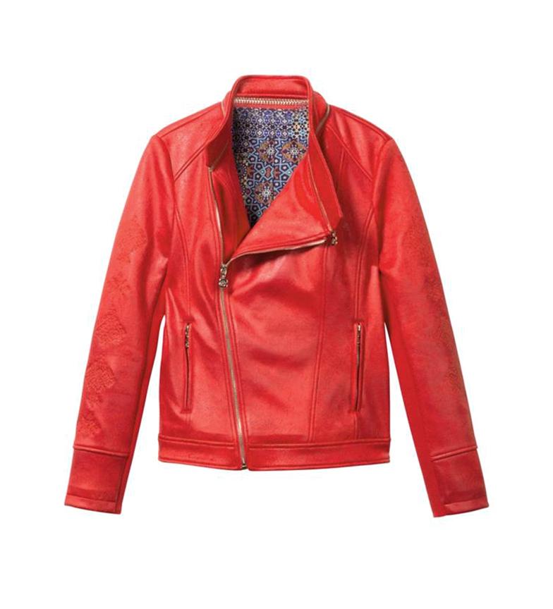 Desigual Biker Jacket Removable Collar Black