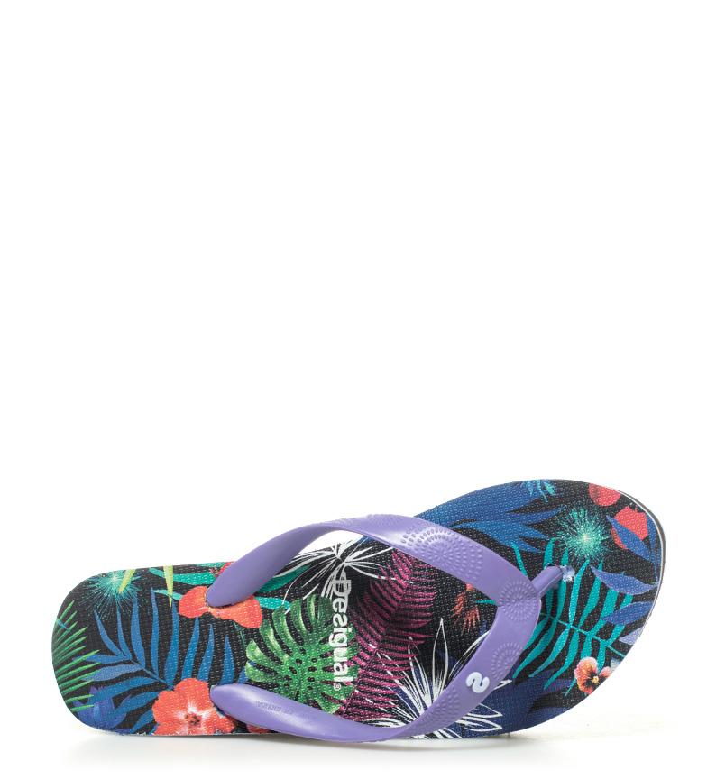 lila Flip Desigual Altura Lola 6cm flop cuña Tropical nRCwIqdC