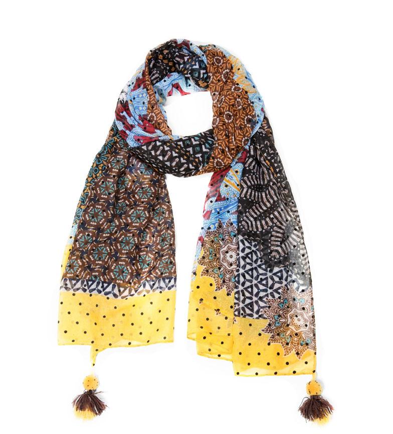 Desigual-Foulard-Spray-Dots-Tiger-Flower-Afro-Sake-Kora-Galactic
