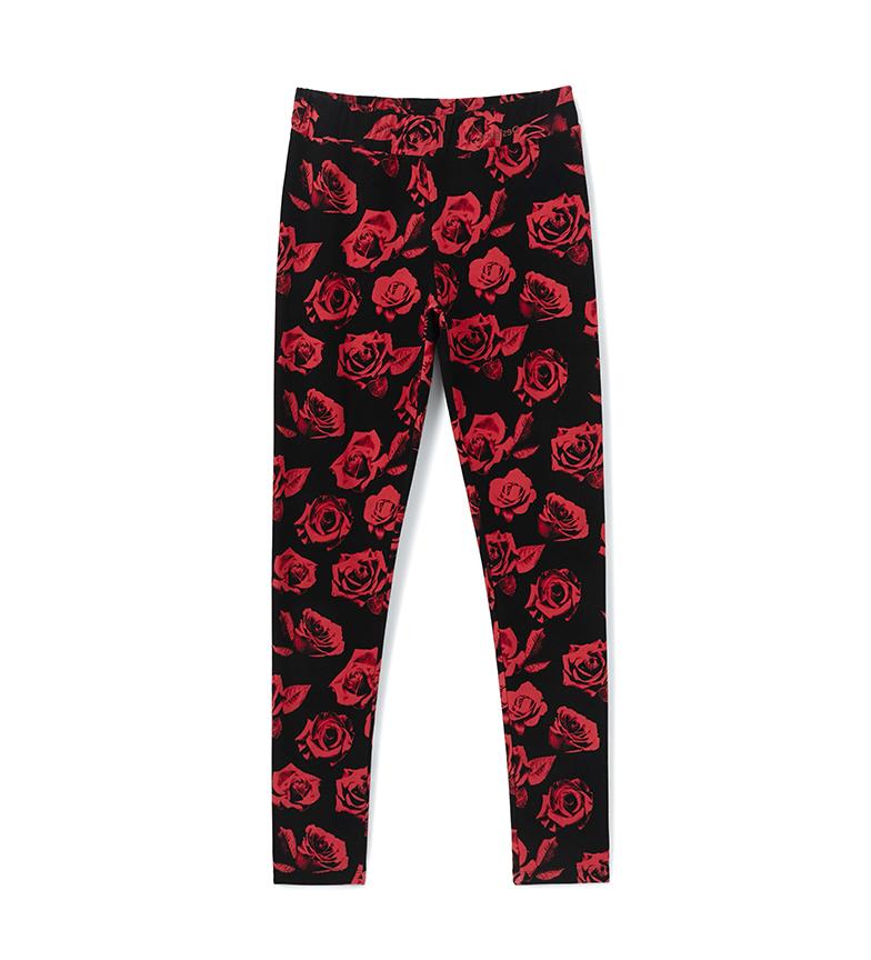 Comprar Desigual Leggings Long Roses nero, rosso