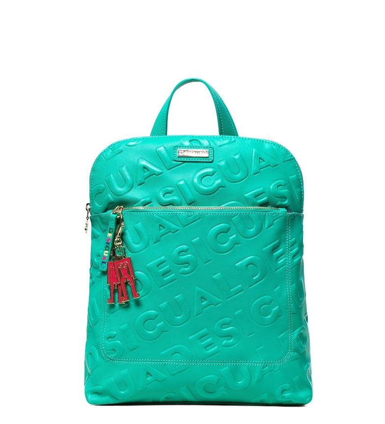 Comprar Desigual Logomaniacal backpack Nanaimo green -28x11x35 cm