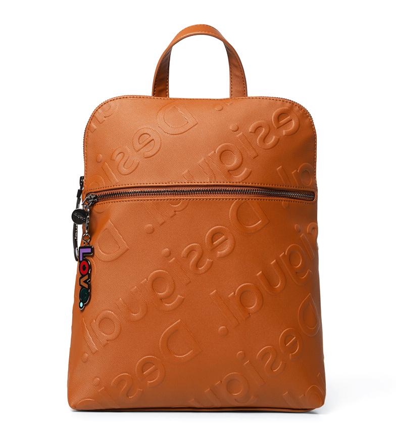 Comprar Desigual Logomania Colorama Nanaimo mochila laranja -35x11x28cm