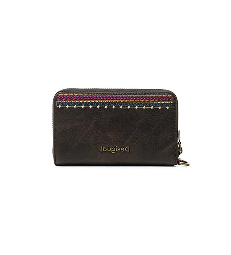 Comprar Desigual Monedero Astoria Mini Zip marrón -15x1,5x9 cm-