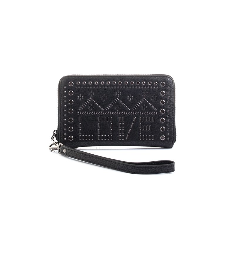 Comprar Desigual Black Mini Zip purse -15x2x 9,5cm