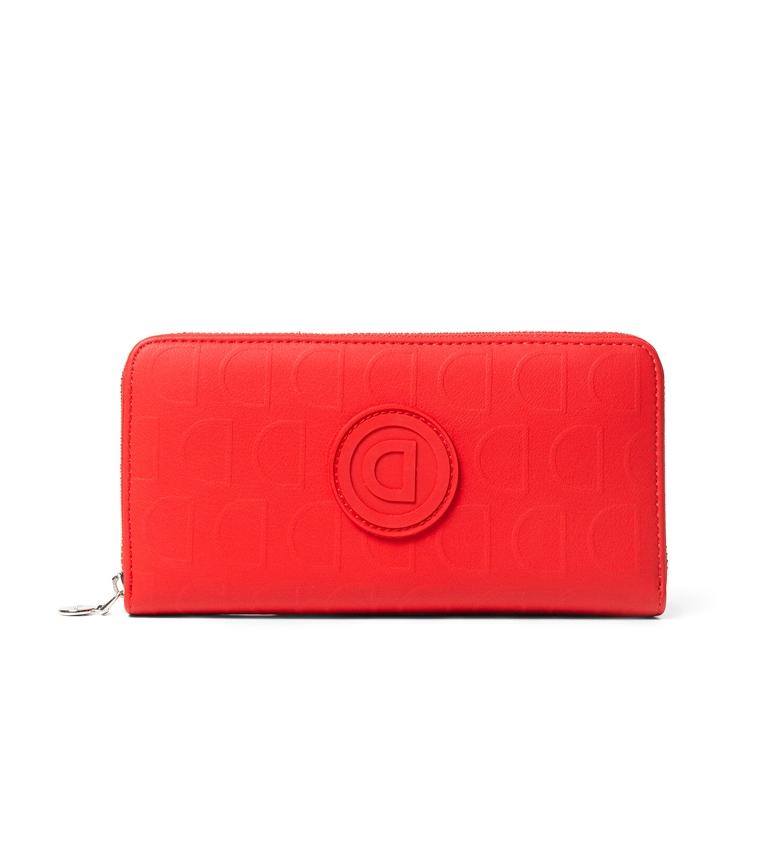 Comprar Desigual Mobnedero Lazarus Zip rojo -19x2x9,5cm-