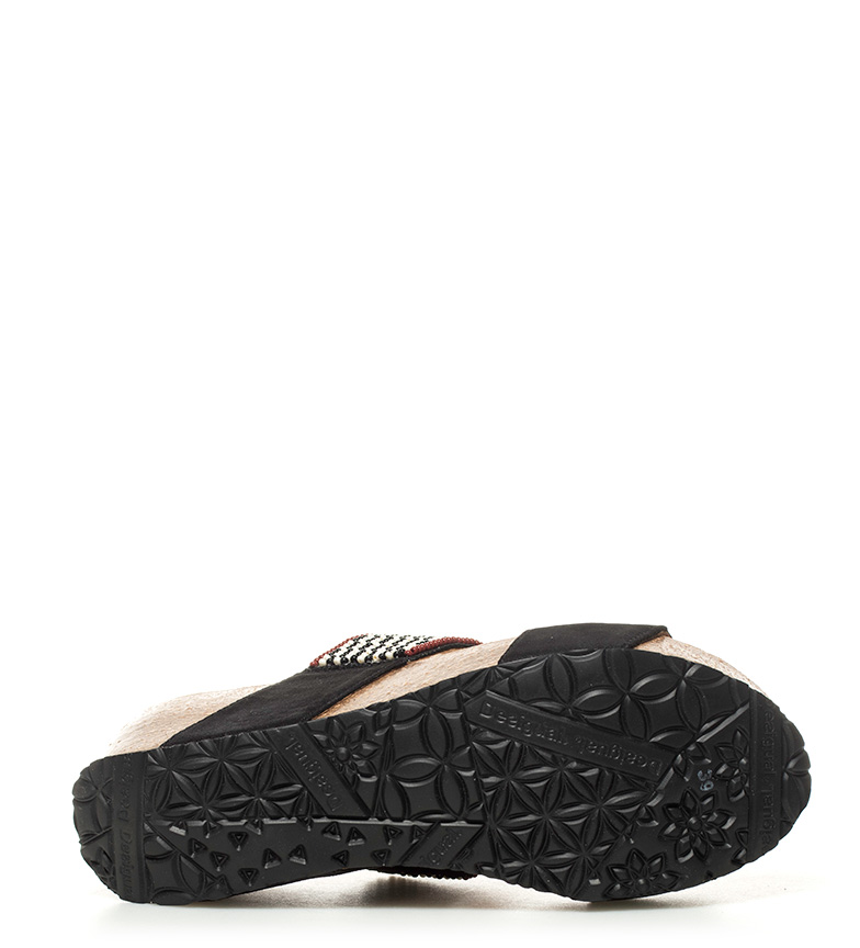 Altura Desigual Sandalias Cycle Africa Cycle Desigual Sandalias 5cm 6 cuña negro Africa xU8wq7pp