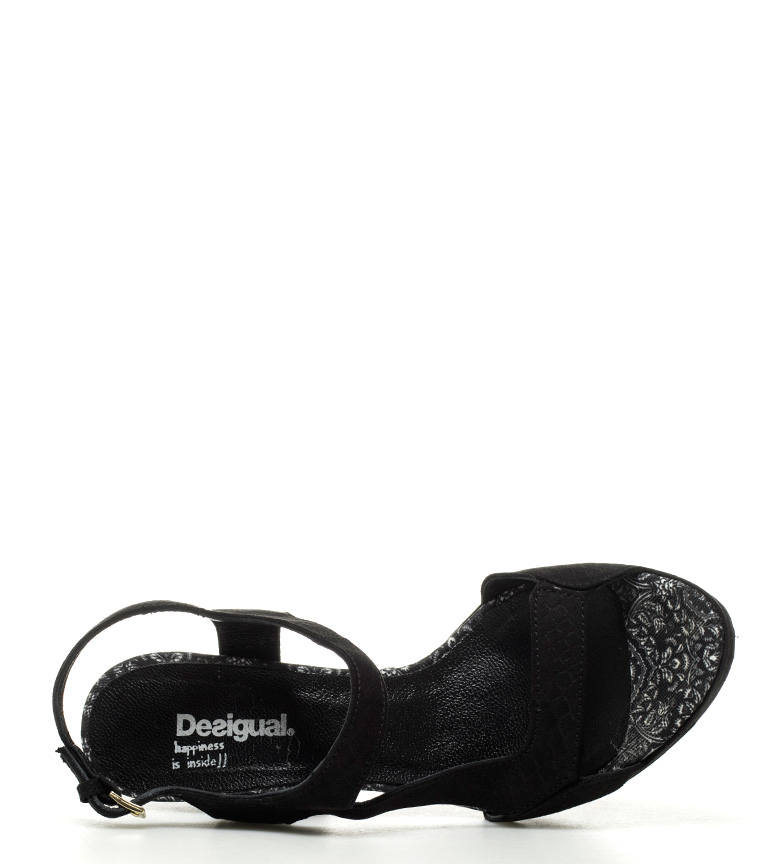 Save Queen tacón 5cm 10 Sandalias Desigual The Marilyn Altura negro wxZWS1