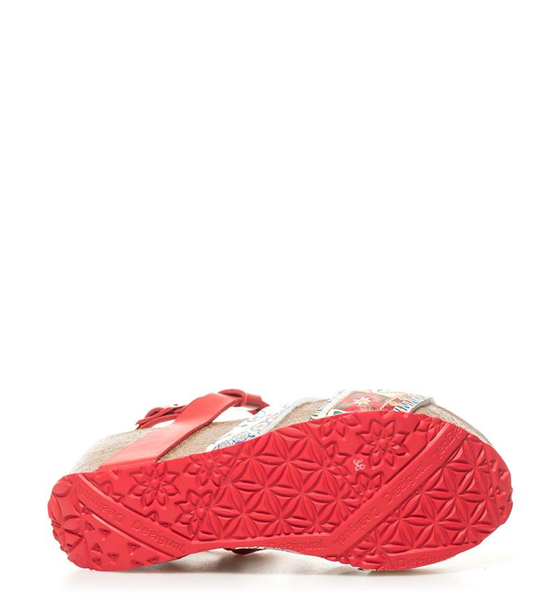 Odisea rojo 5cm 6 Sandalias Altura cuña Microrapport Desigual 8waxvSqUn