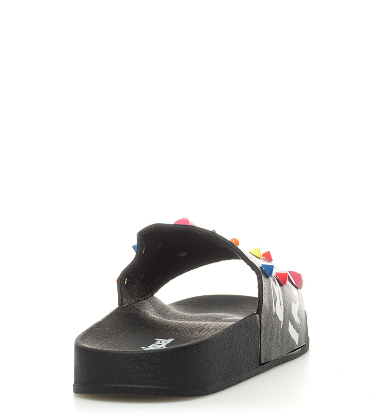 Desigual Sandalias Slide Candy negro