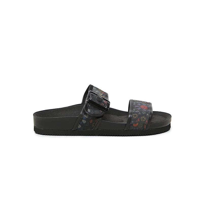 Comprar Desigual Stamped Strappy Sandals with Buckle black