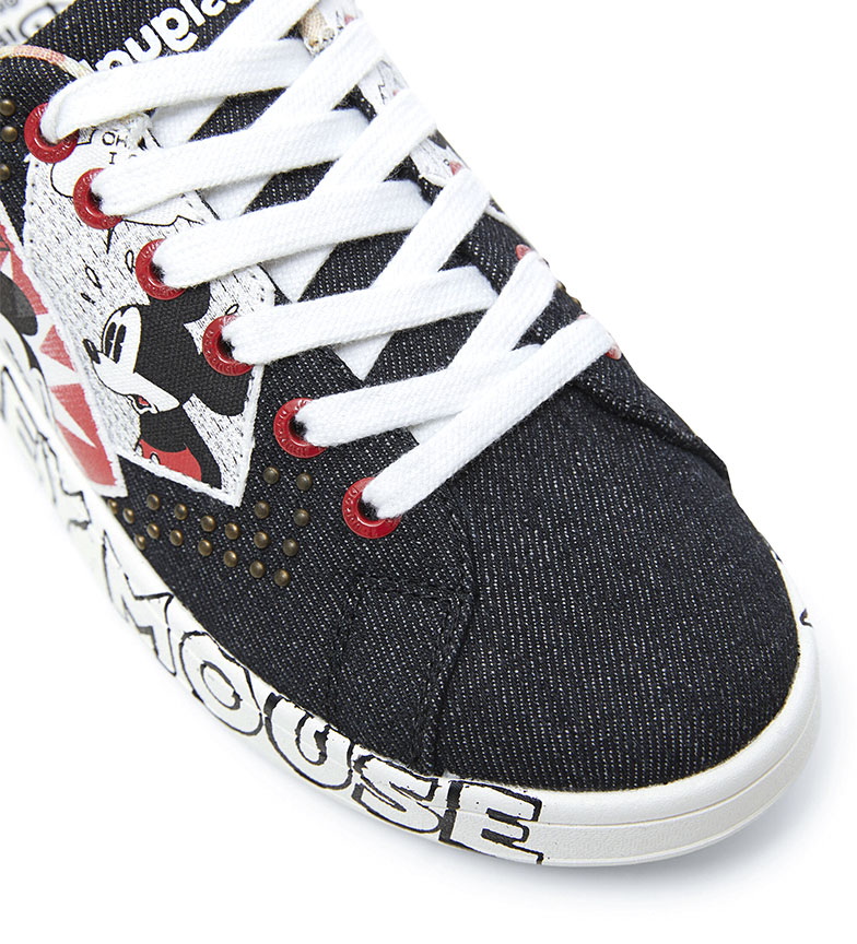 Desigual Denim MIckey Mouse Sneakers black
