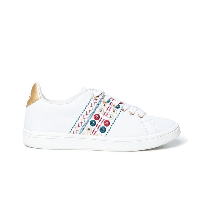 Comprar Desigual Zapatillas de piel Cosmic New Exotic blanco