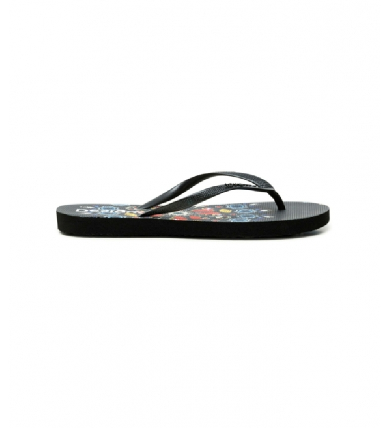Desigual Flip flops Butterfly black