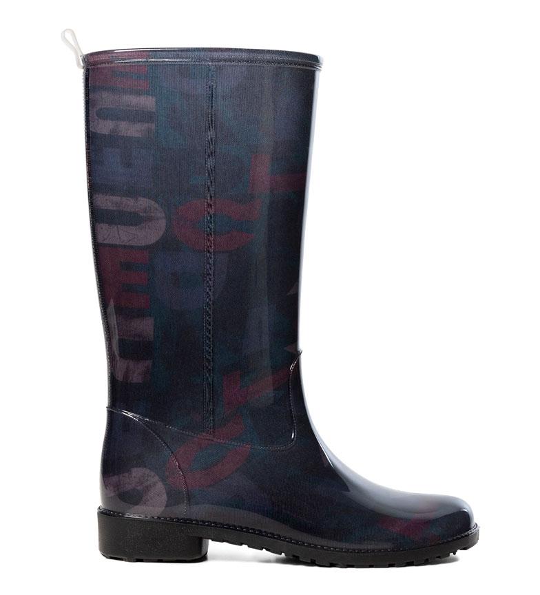 Comprar Desigual Stivali da pioggia neri Logomania