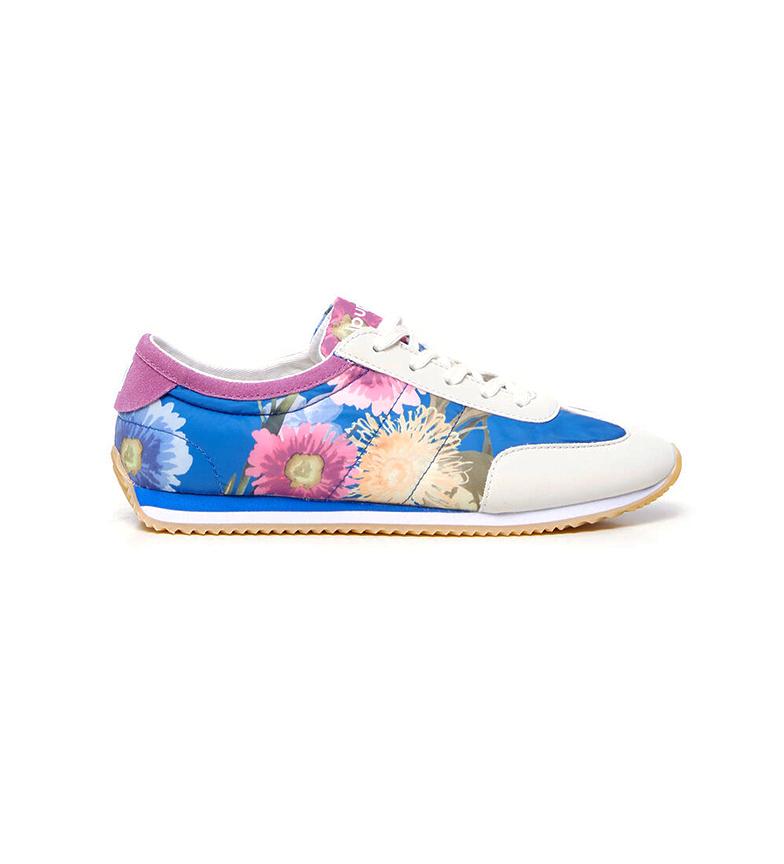 Desigual Pantoufles bleues Royal Flowers