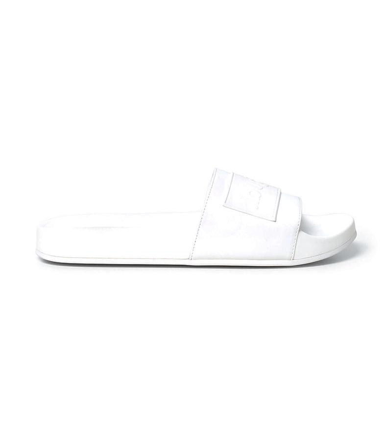 Comprar Desigual White Logomania slippers