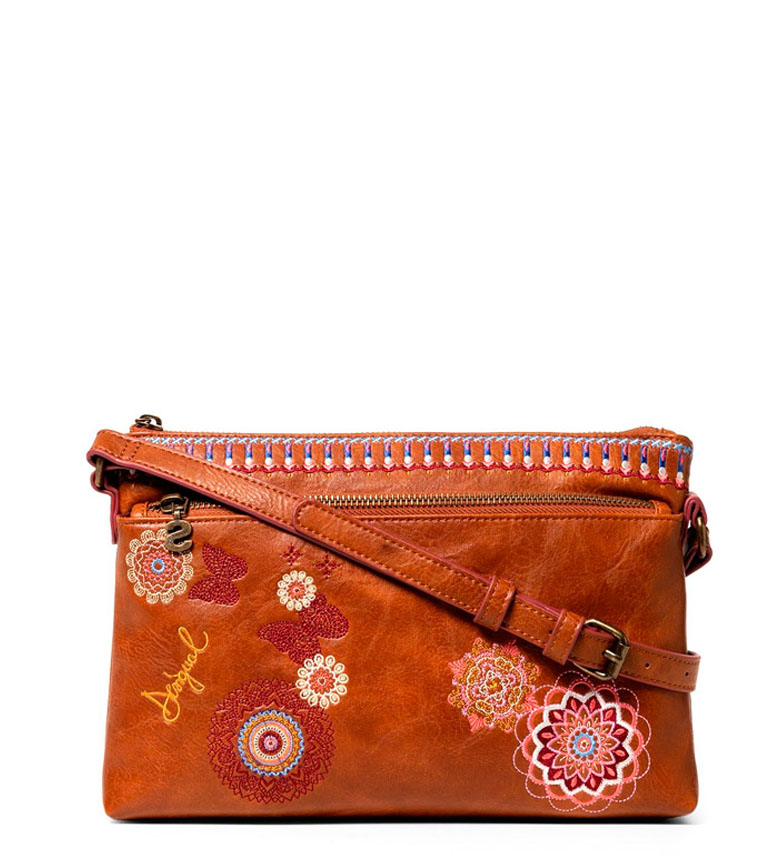 Comprar Desigual Chandy Durban camel shoulder bag -27.3x17.5x4cm