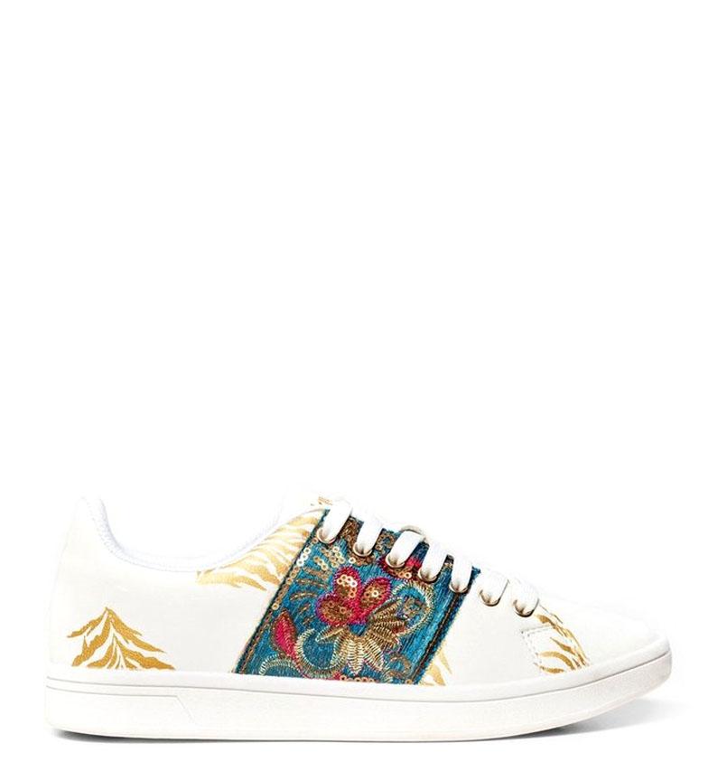 Comprar Desigual Zapatillas Cosmic Exotic Tropical blanco