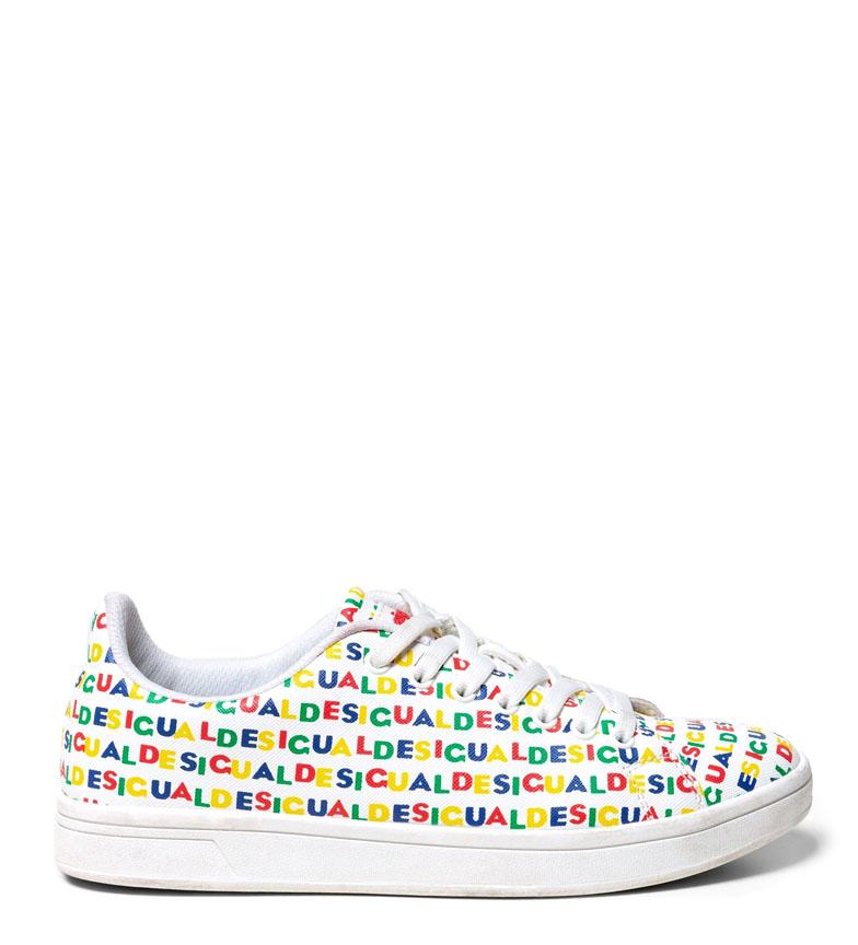 Cosmic Desigual Cosmic Blanco Zapatillas Logos Blanco Desigual Logos Zapatillas 3jL54AqR