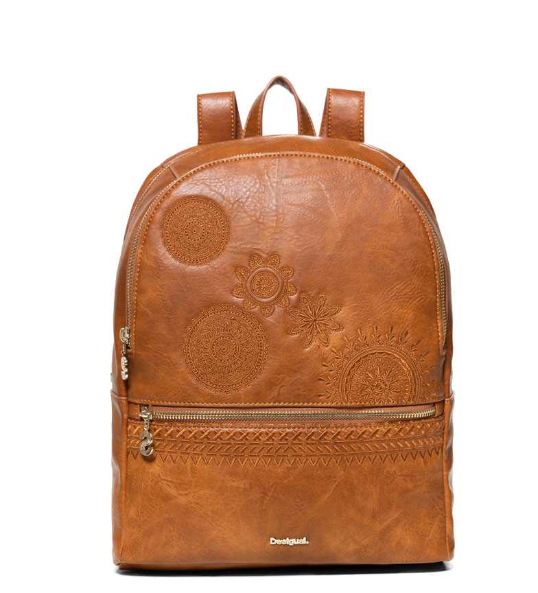 Comprar Desigual Backpack Dark Amber Milan Mini brown -33x13x29cm-