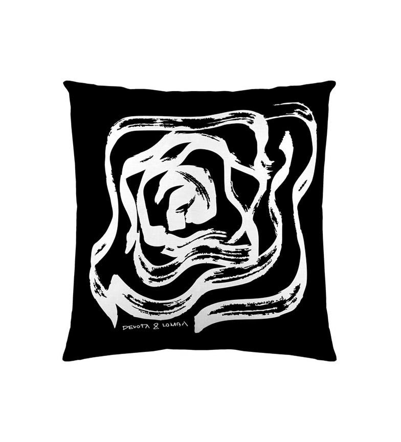 Comprar Devota & Lomba Capa de almofada de rosas preta -60x60cm-