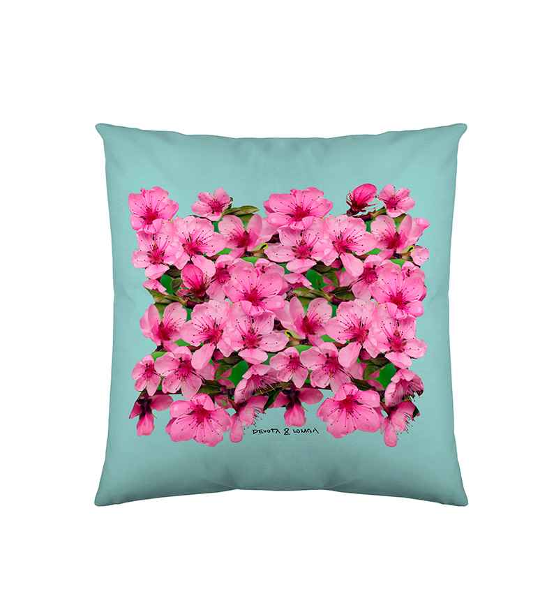 Comprar Devota & Lomba Turquoise almond flower cushion cover -60x60cm-