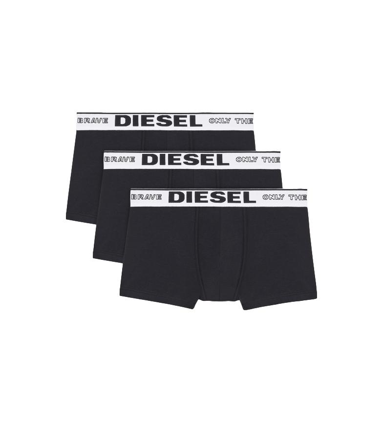 Diesel Pacote de 3 Boxers UMBX-Sebastian preto
