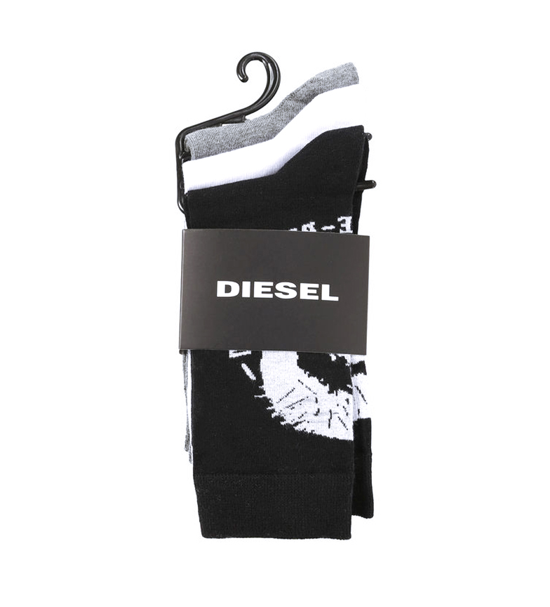 Comprar Diesel Pack 3 chaussettes Skm Ray noires, grises, blanches