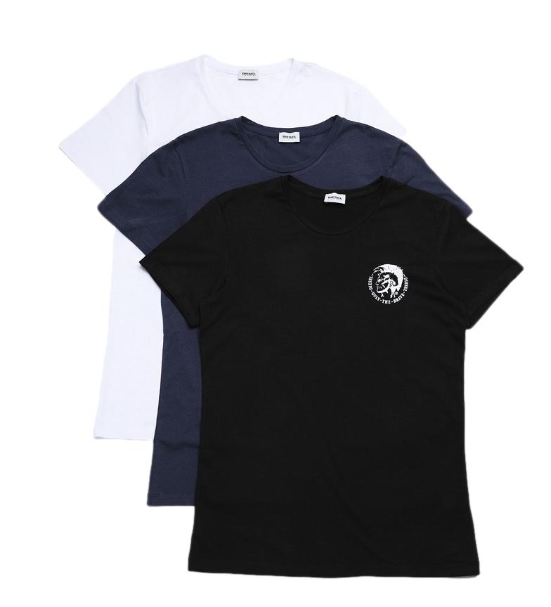 Comprar Diesel Pack of 3 T-shirts Umtee Randal black, navy, white