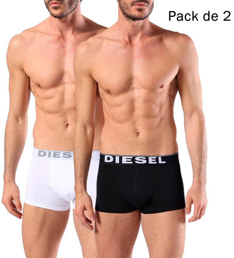 Diesel-Pack-de-2-Boxers-Kory-Hombre-chico-Negro-Algodon