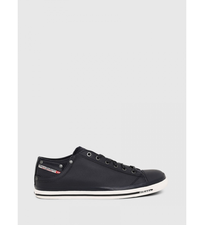 Comprar Diesel Sneakers Eposure Low in pelle marina