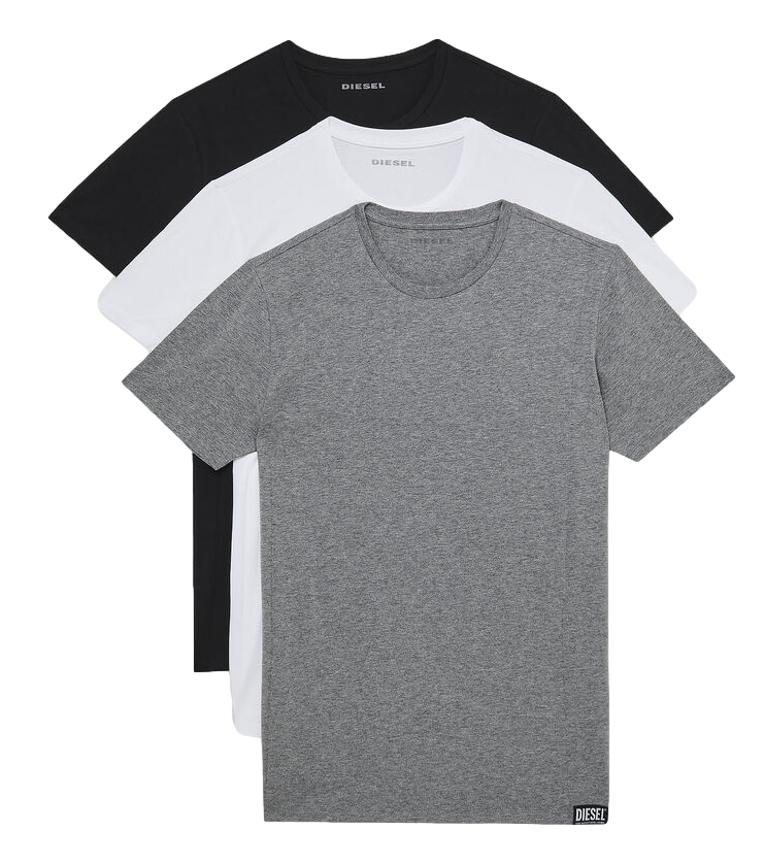 Diesel Lot de 3 T-shirts UMTEE- Randal Maglietta noir, blanc, gris