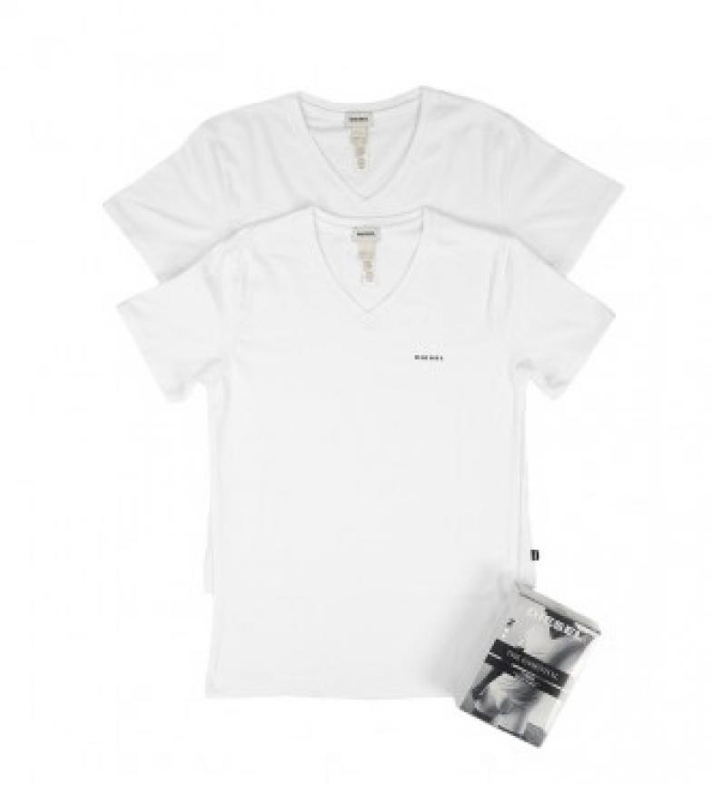 Comprar Diesel Pack de 2 Camisetas c/pico Michael blanco