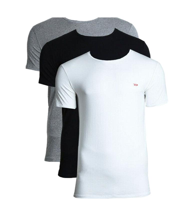Comprar Diesel Lot de 3 T-shirts Umtee Randal blanc, noir, gris