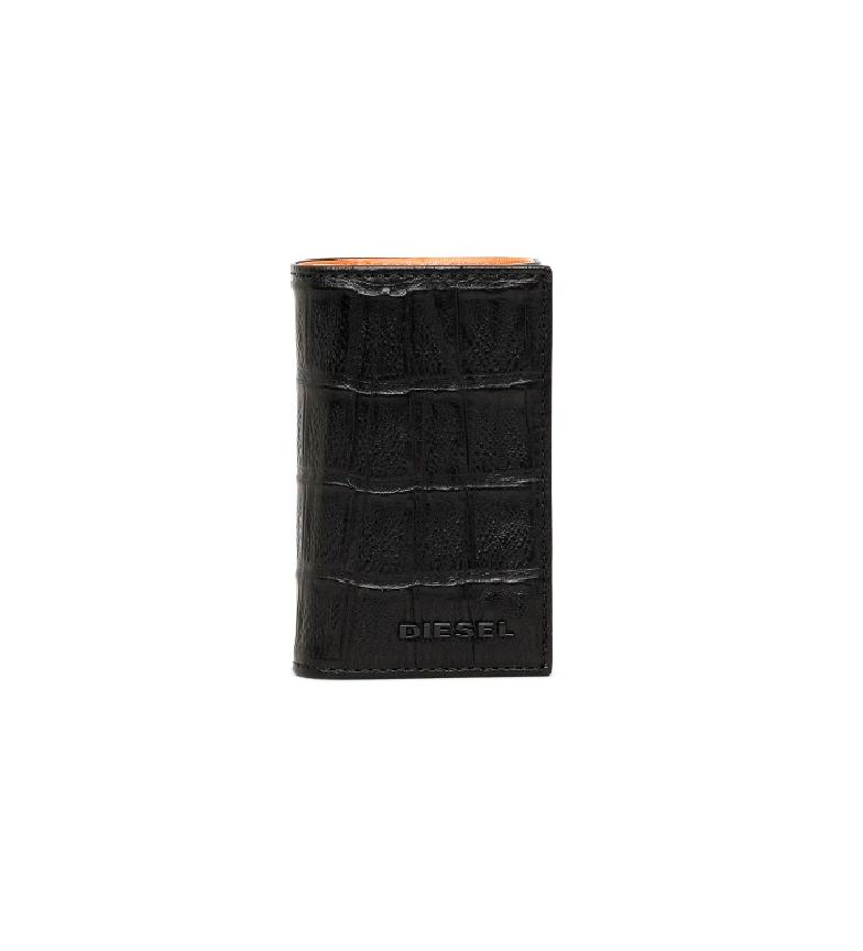 Diesel Porte-clés en cuir X03901P0178T noir -6x10.5x2cm