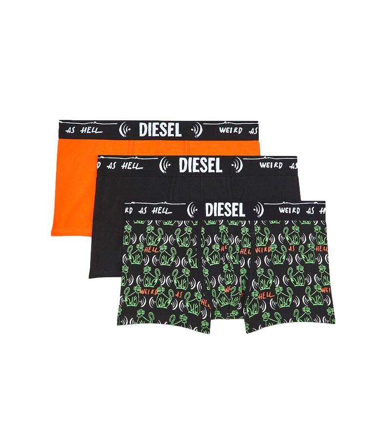 Diesel Confezione da 3 boxer UMBX-Damienthreepack nero, arancione