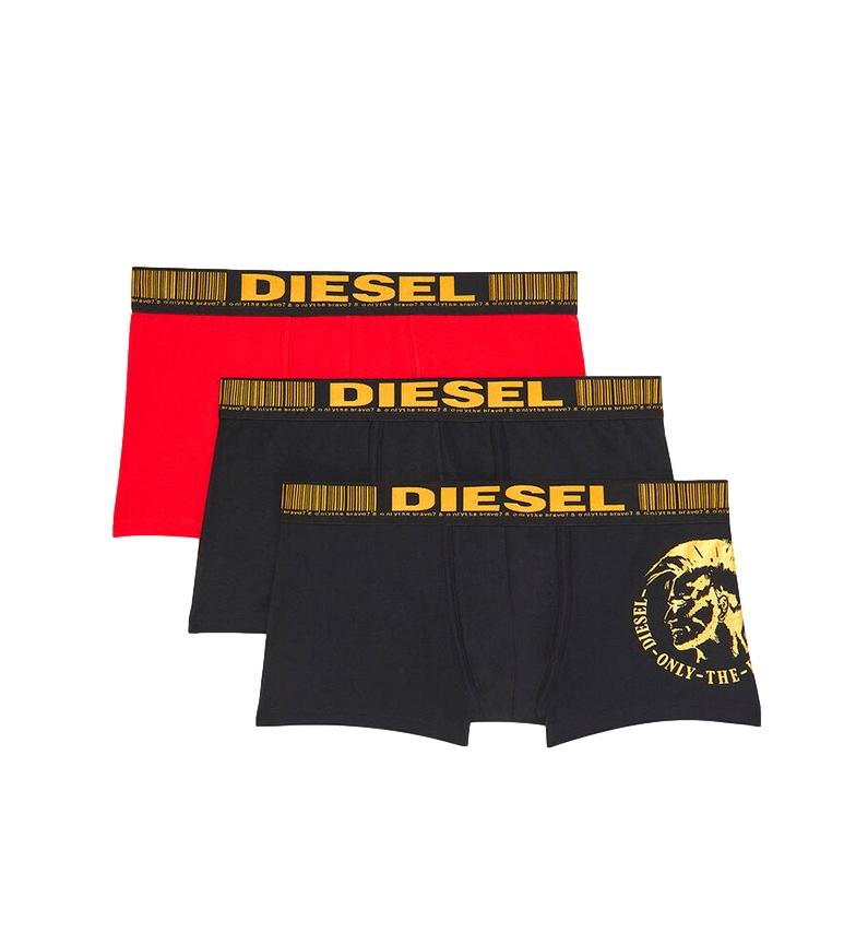 Comprar Diesel Pacote de 3 boxers UMBX-Damienthreepack preto, vermelho