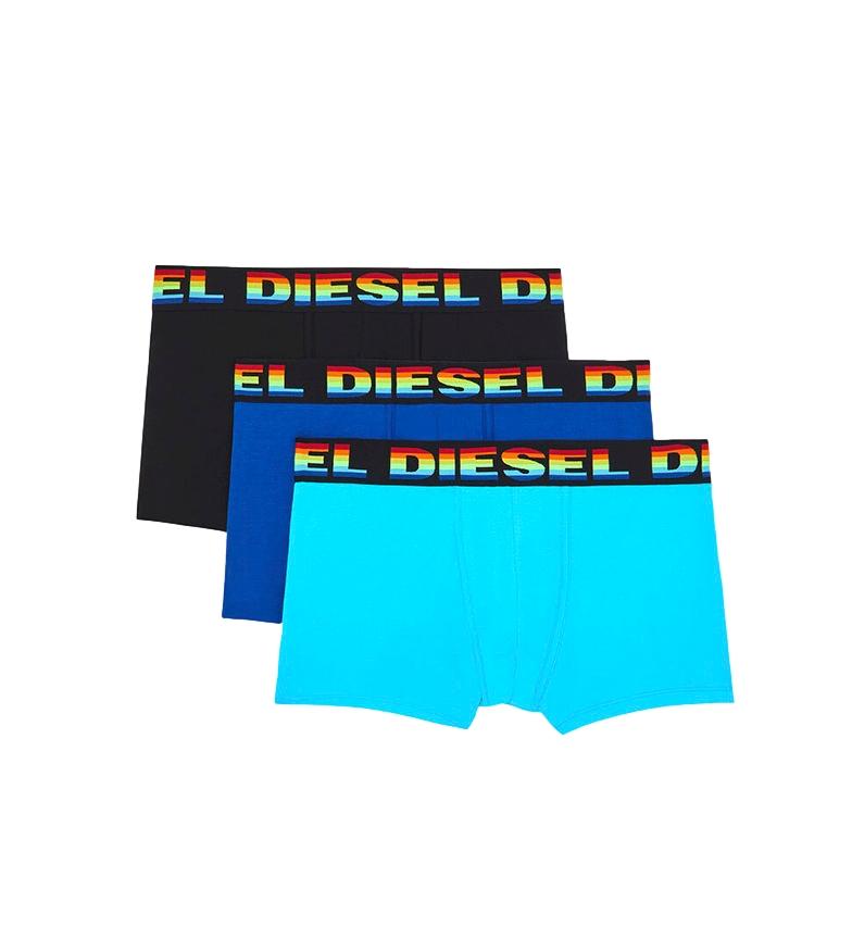 Comprar Diesel Pacote de 3 boxers UMBX-Damienthreepack preto, azul