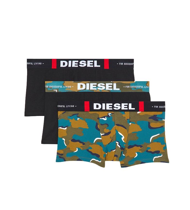 Comprar Diesel Pack de 3 Boxers UMBX-Damienthreepack negro, verde