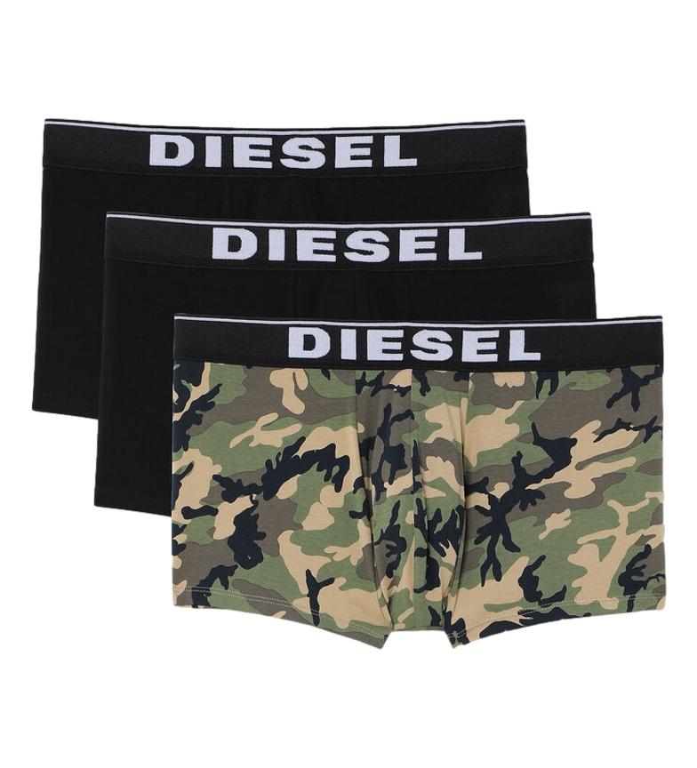 Diesel Pack 3 boxer UMBX-Damien nero, multicolor