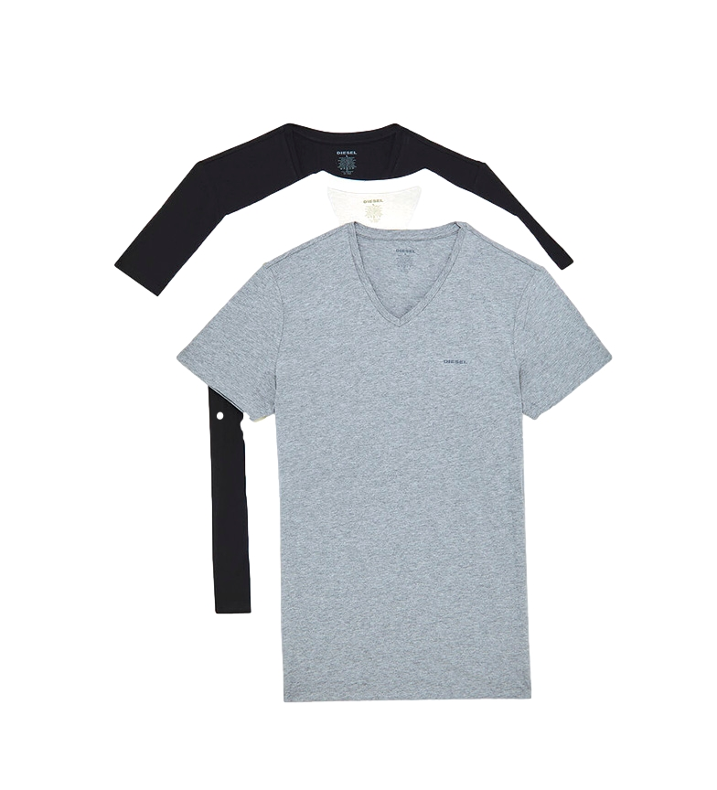 Comprar Diesel Pack de 3 Camisetas UMTEE-Jake-Vthreepack blanco, negro, gris