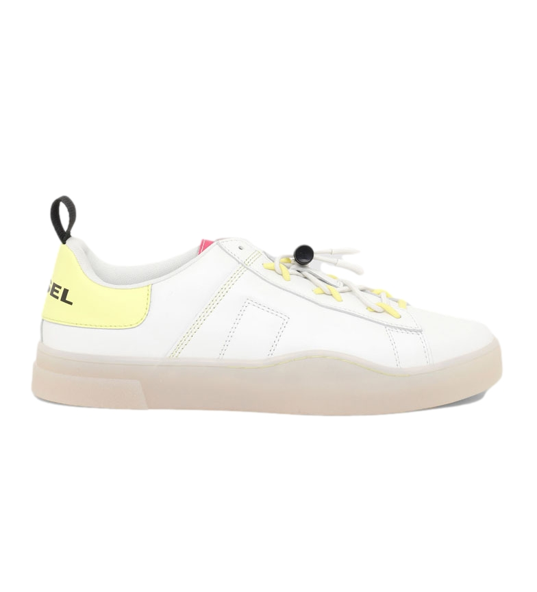 Comprar Diesel S-Clever So C leather sneakers white, yellow