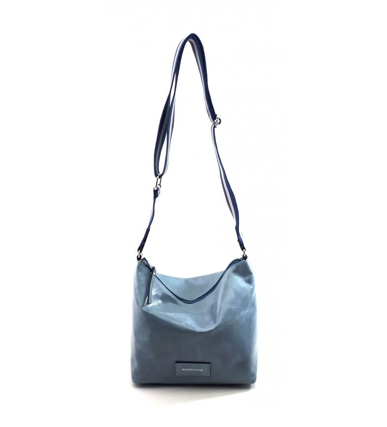 Comprar Dimoni Leather shoulder bag AC220STGRV19 blue -21x23x14cm